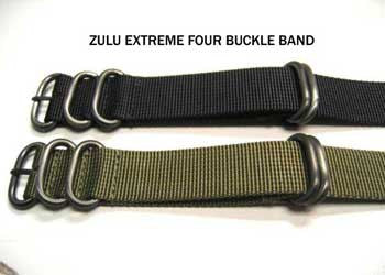 Zulu® Four Buckle Watch Straps by Maratac ™