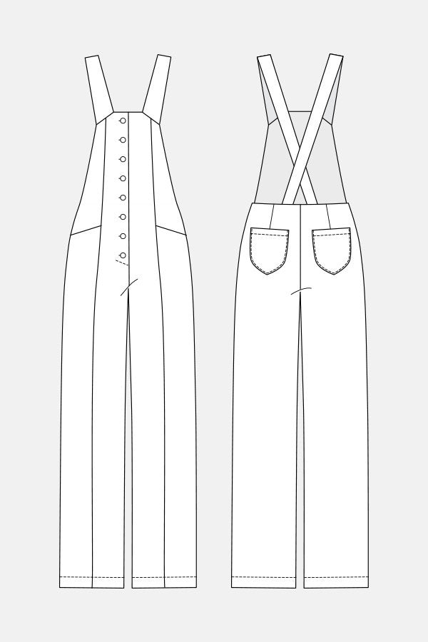 Bly Overalls sewing pattern | Named - Stitch 56  - 3