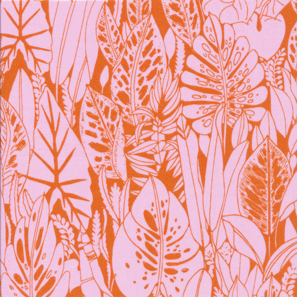 Foliage - Orange | Organic Cotton - 1/4m