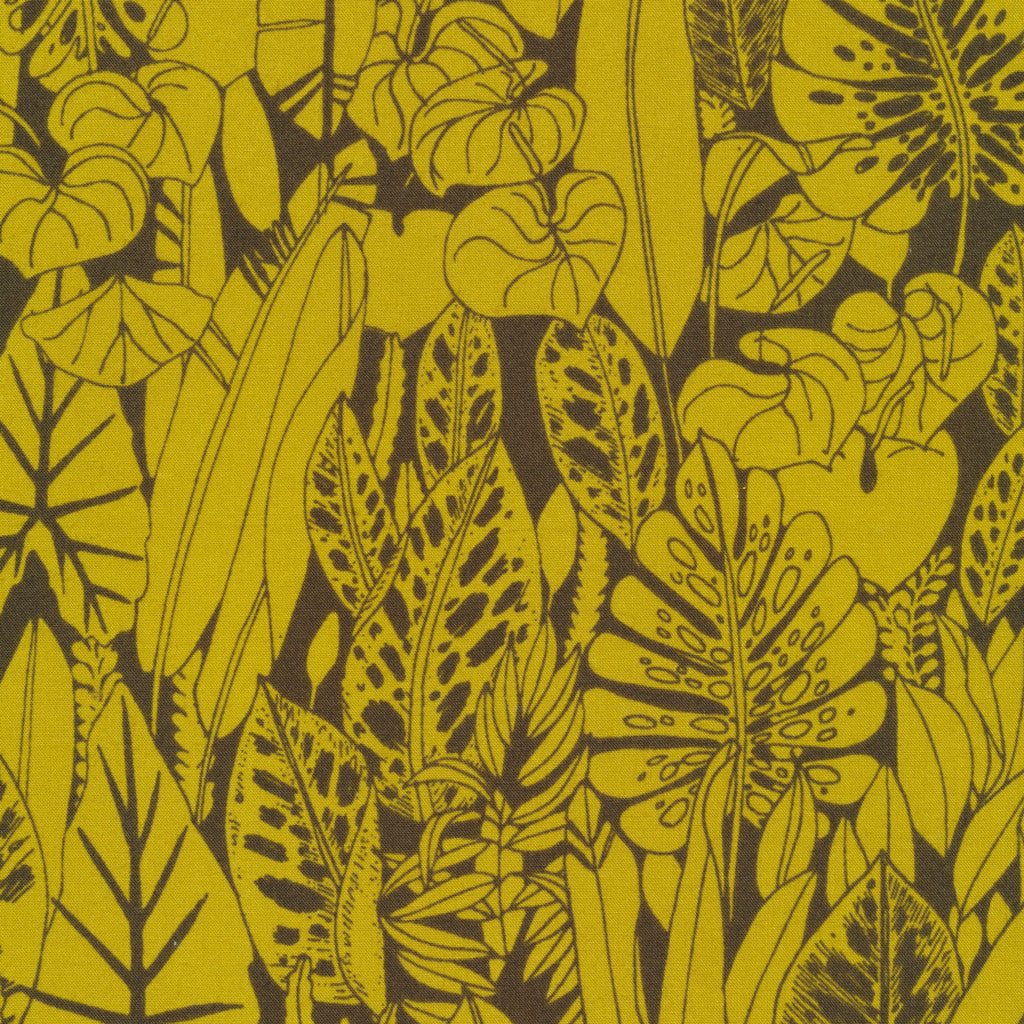 Foliage - Green | Organic Cotton - 1/4m