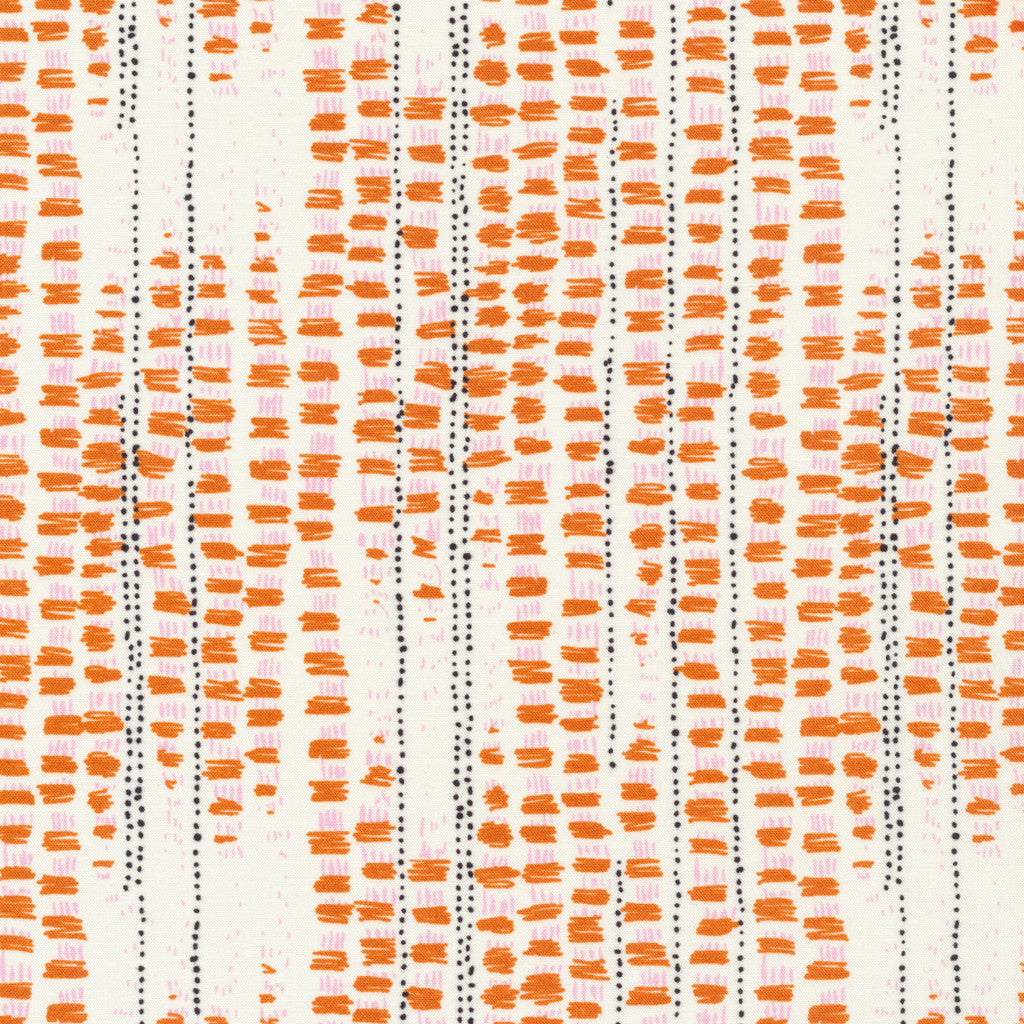 Tapestried - Orange | Organic Cotton - 1/4m