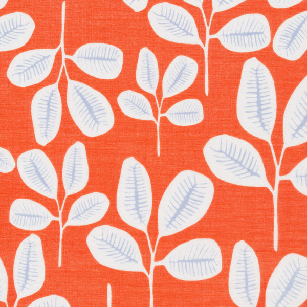 Friday Fronds in Tangerine | Organic Cotton Batiste - 1/4m
