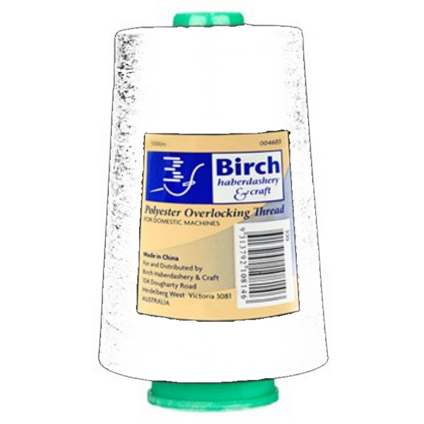 Polyester Overlocking Thread 5000MT - White | Birch