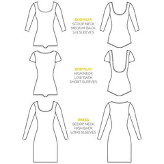 Nettie Dress & Bodysuit Pattern (Print) | Closet Case Patterns