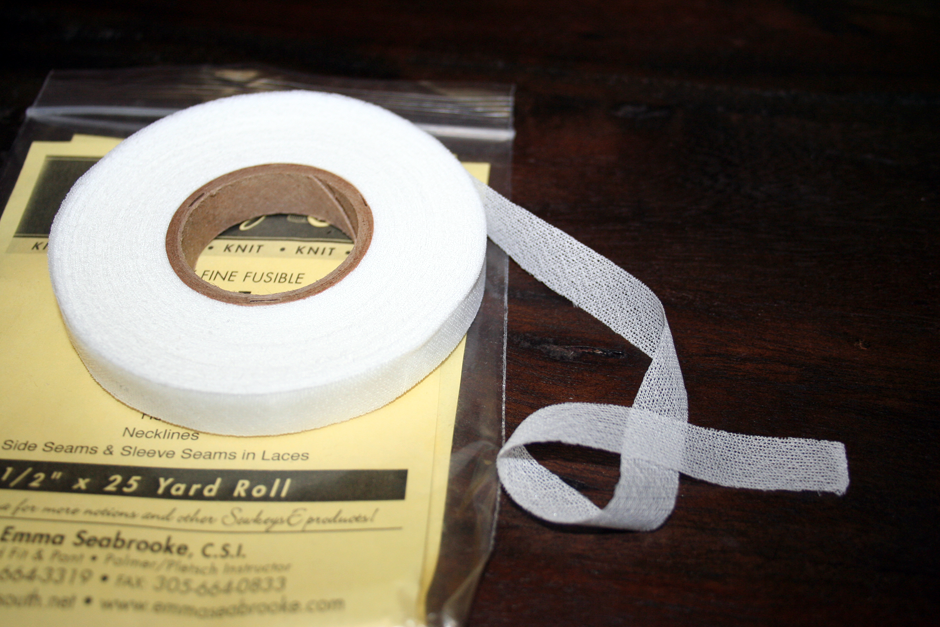Double-Sided Fusible Stay Tape - Clear 1in | Emma Seabrooke