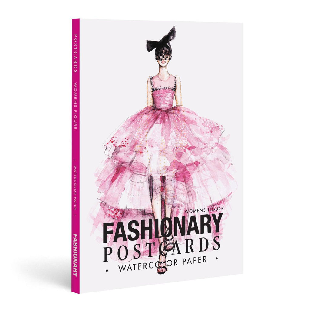 Fashionary | Watercolour Postcard Books - Womens Figure