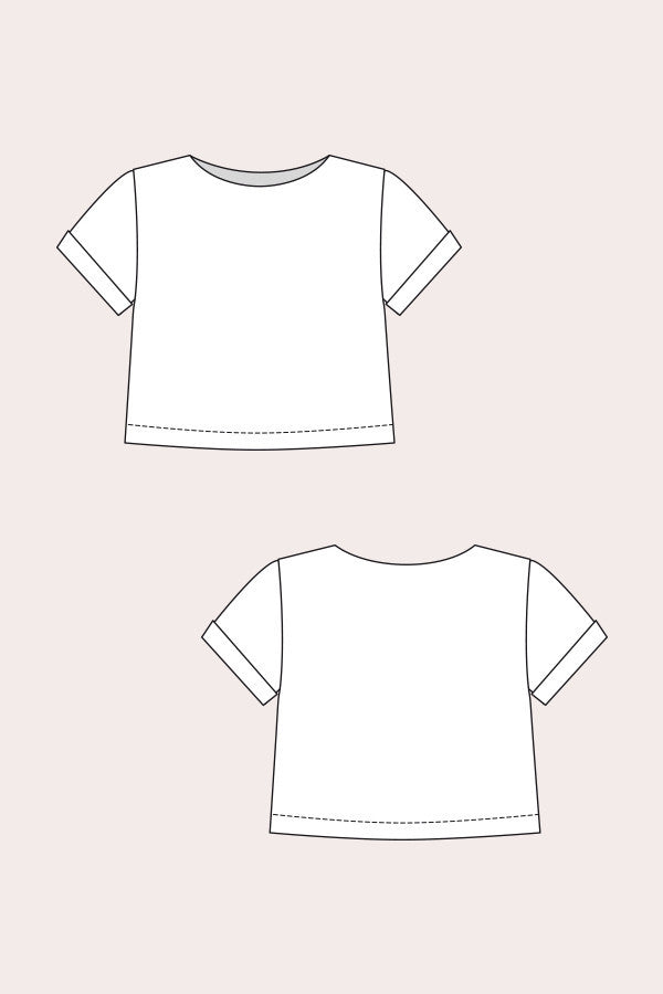 Inari T-Shirt Dress & Cropped Tee Sewing Pattern | Named - Stitch 56  - 8