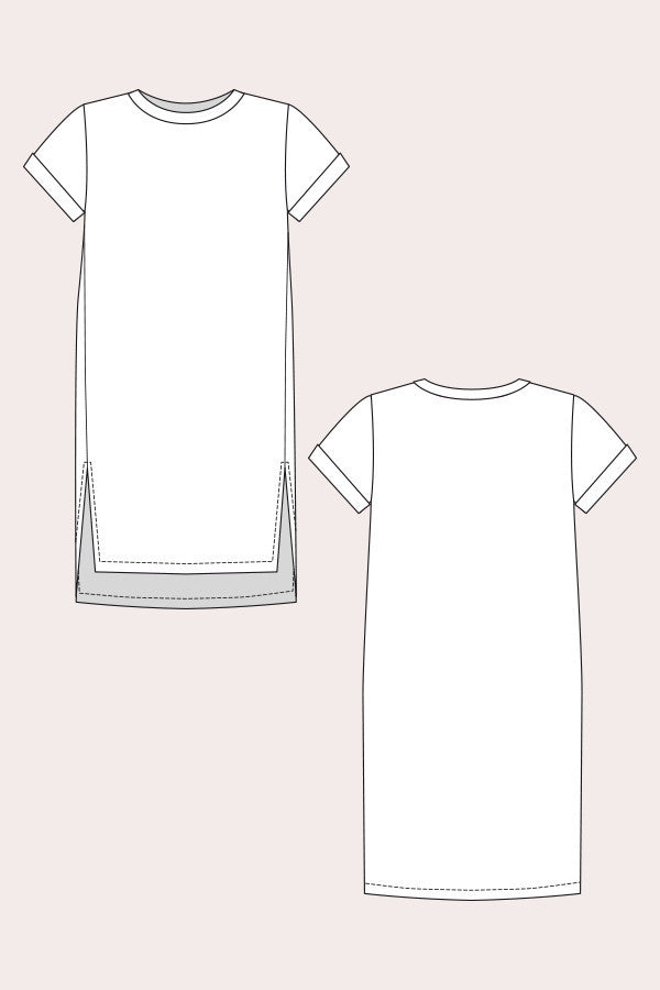Inari T-Shirt Dress & Cropped Tee Sewing Pattern | Named - Stitch 56  - 9