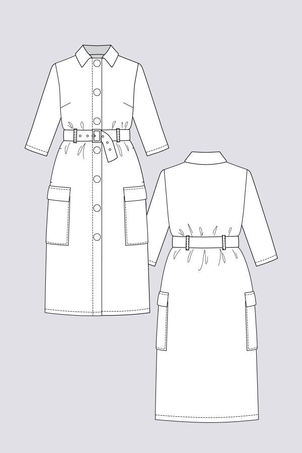 Lempi Button Down Dress sewing pattern | Named