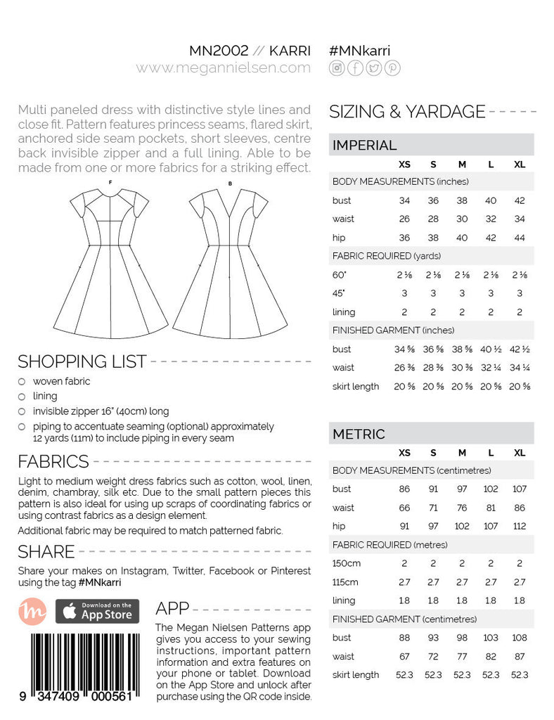 Karri Paper Sewing Pattern | Megan Nielsen