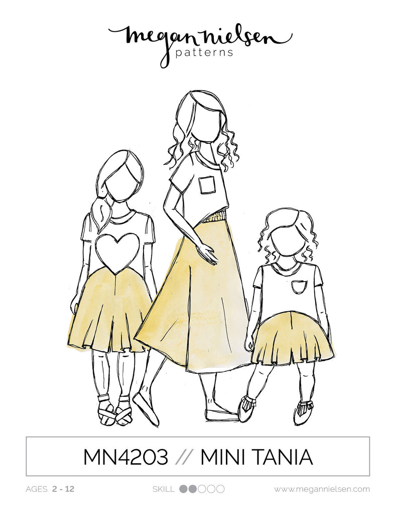 MN4203 Mini Tania Culottes Paper Sewing Pattern | Megan Nielsen - Stitch 56  - 1