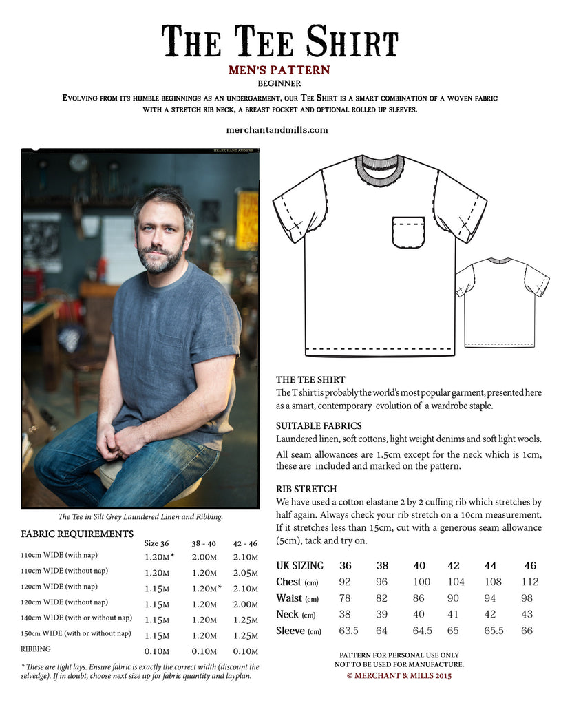 The Tee Shirt Sewing Pattern | Merchant & Mills