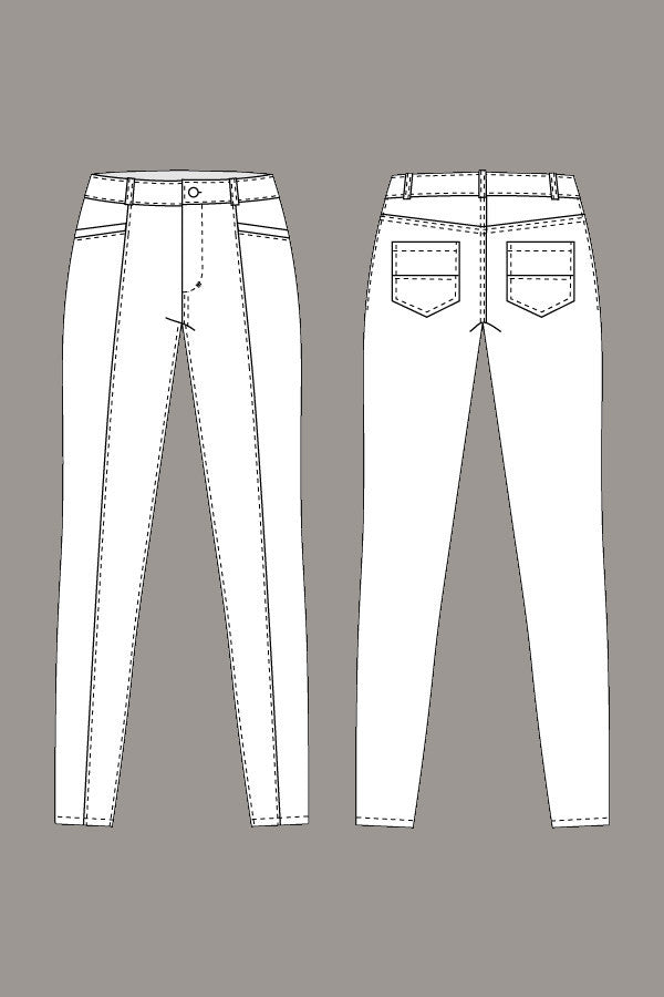 Jamie Jeans sewing pattern | Named - Stitch 56  - 6