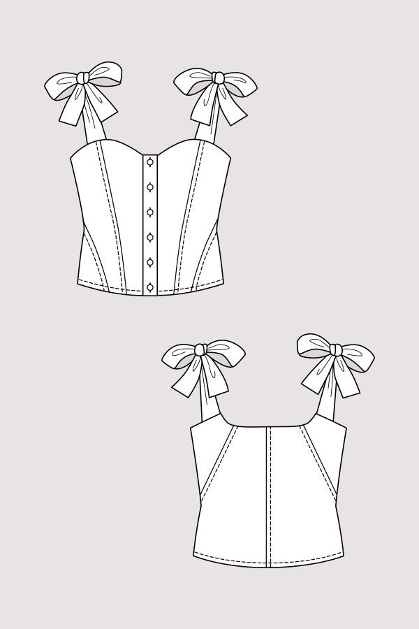 Grace Corset Top sewing pattern | Named