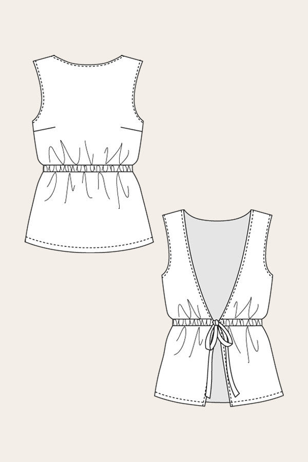 Lupiini Tie Back Top sewing pattern | Named - Stitch 56  - 4