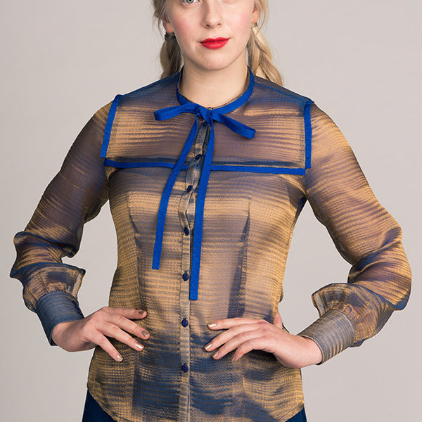Madeleine Bow Tie Blouse sewing pattern | Named