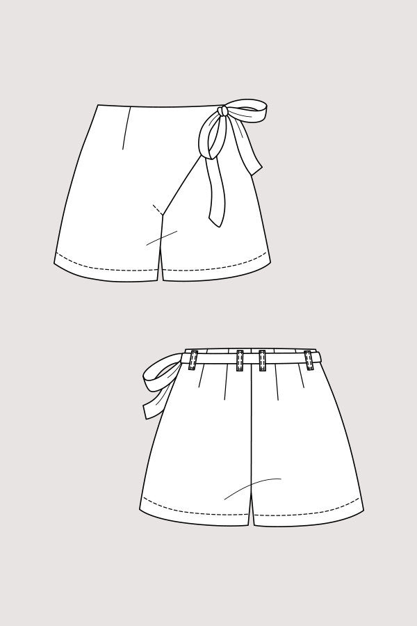 Astrid Wrap Pants & Shorts sewing pattern | Named
