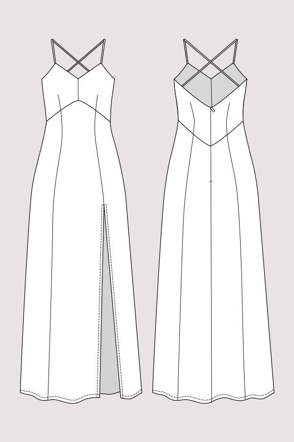 Elizabeth Gown sewing pattern | Named