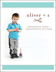 Parachute Polo + Sweatpants Paper Sewing Pattern | oliver+s - Stitch 56  - 1