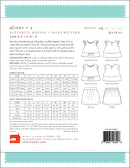Butterfly Blouse+ Skirt Paper Sewing Pattern | oliver+s - Stitch 56  - 13