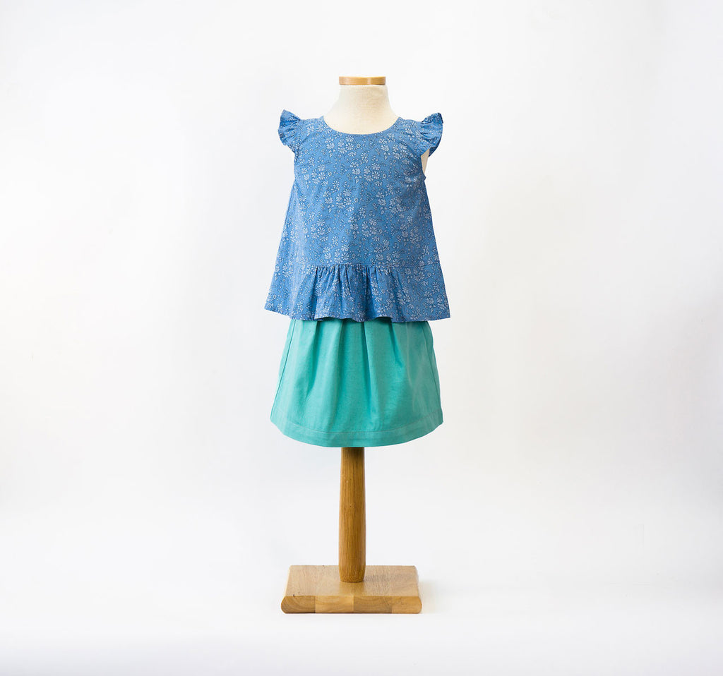 Butterfly Blouse+ Skirt Paper Sewing Pattern | oliver+s - Stitch 56  - 2
