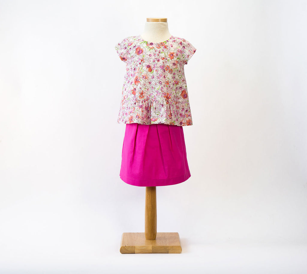 Butterfly Blouse+ Skirt Paper Sewing Pattern | oliver+s - Stitch 56  - 3