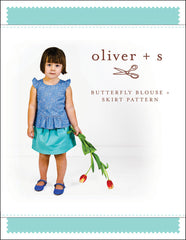 Butterfly Blouse+ Skirt Paper Sewing Pattern | oliver+s - Stitch 56  - 1