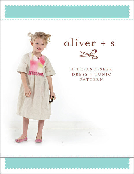 Hide-and-Seek Dress + Tunic PAPER Sewing Pattern | oliver+s - Stitch 56  - 1