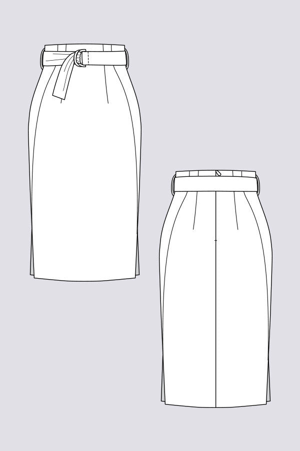 Pulmu High-Waisted Pencil Skirt sewing pattern | Named