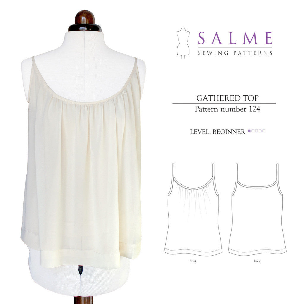 Gathered Top Sewing Pattern | Salme Sewing Patterns - Stitch 56  - 1
