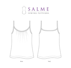 Gathered Top Sewing Pattern | Salme Sewing Patterns - Stitch 56  - 2