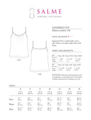 Gathered Top Sewing Pattern | Salme Sewing Patterns - Stitch 56  - 3