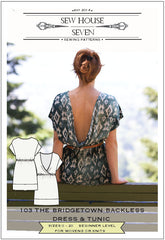 The Bridgetown Backless Dress & Tunic Sewing Pattern | Sew House Seven