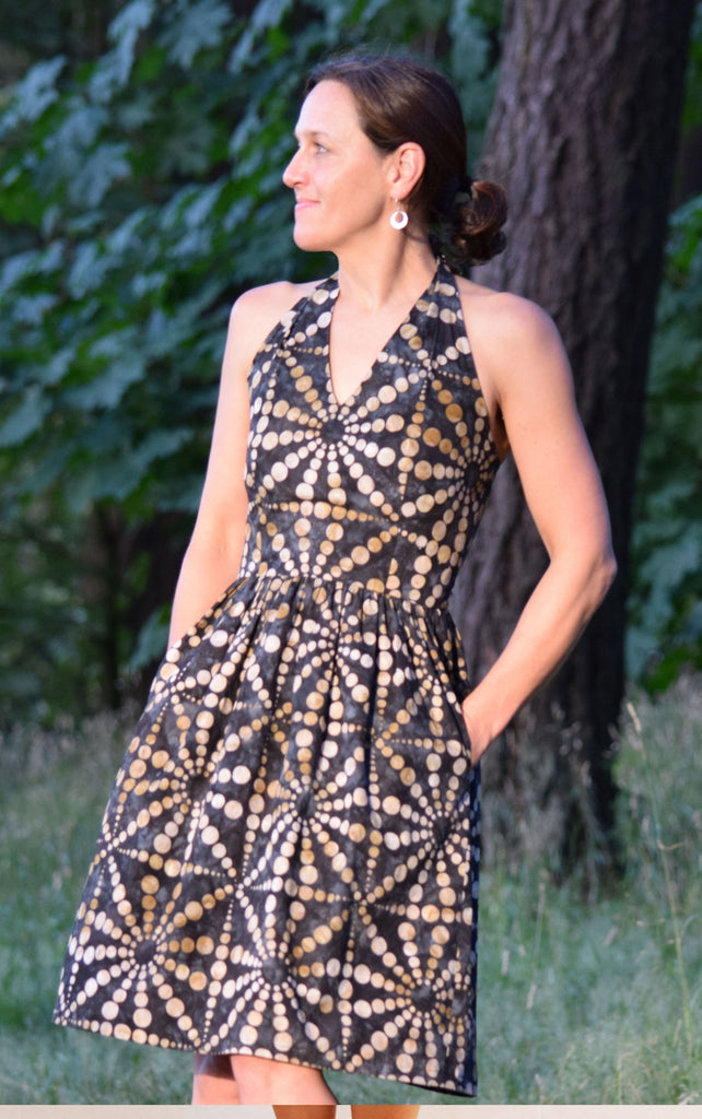 Rose City Halter Dress Sewing Pattern | Sew House Seven