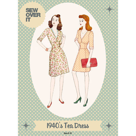 1940's Tea Dress Paper Sewing Pattern | Sew Over It