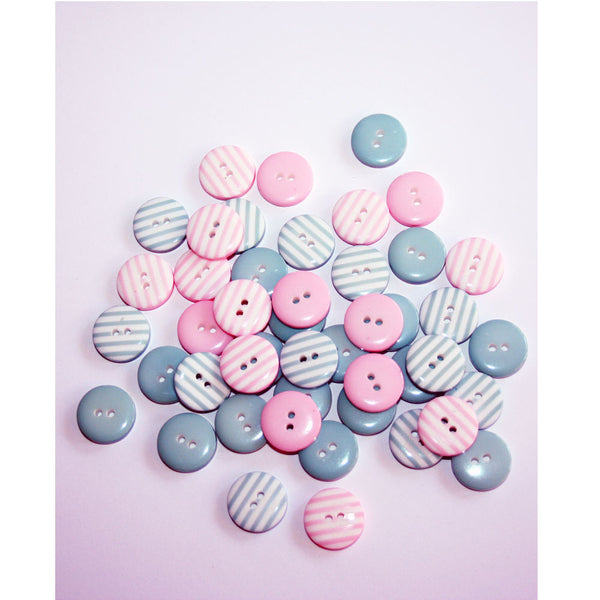 Little Striped Buttons - Stitch 56  - 1