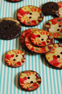 Coconut Buttons - Printed Floral - Stitch 56