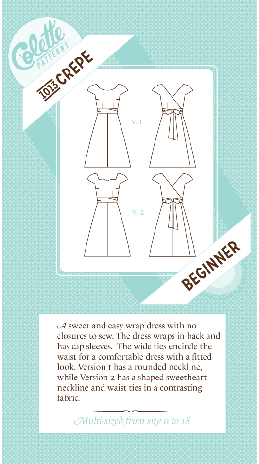 Crepe Sewing Pattern | Colette Patterns - Stitch 56  - 7