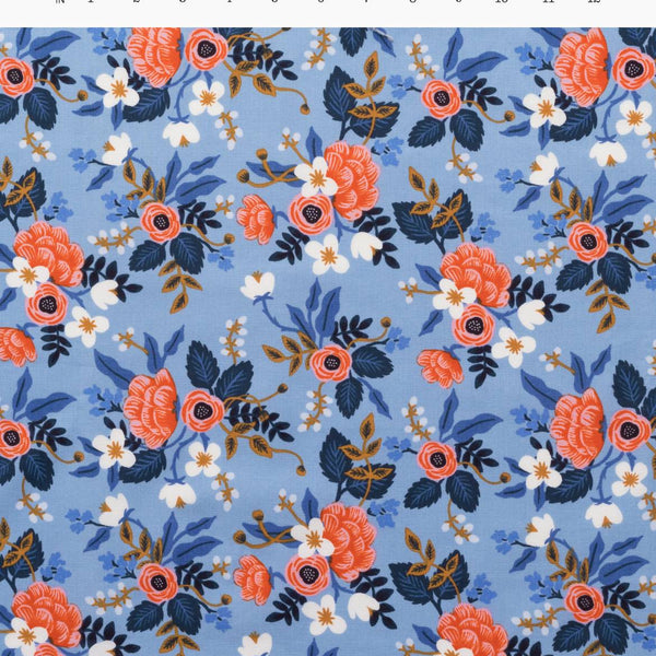 Birch Floral Periwinkle | Cotton