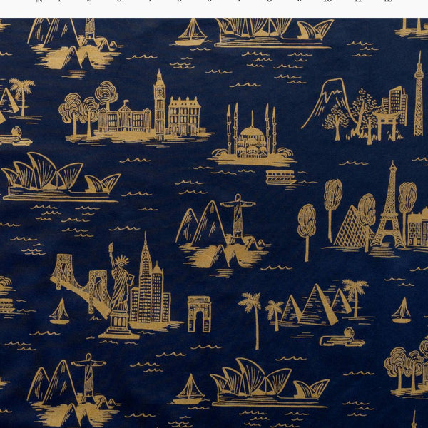 City Toile Navy | Cotton Voile