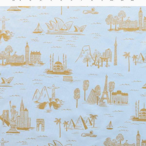 City Toile Pale Blue | Cotton Voile