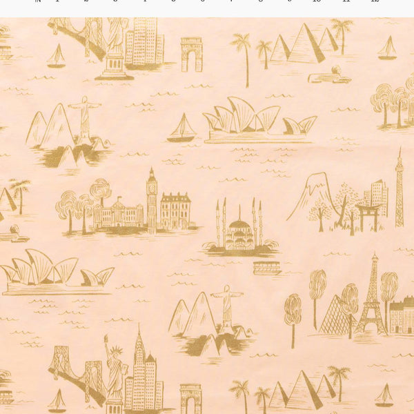 City Toile Peach | Cotton Voile