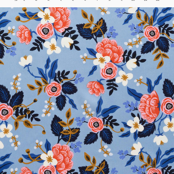 Birch Floral Periwinkle | Rayon