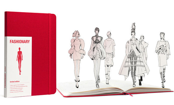 Fashionary | A5 Sketchbook Womens - Red - Stitch 56  - 1