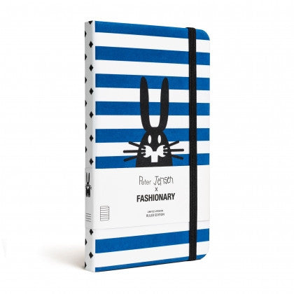 Fashionary x Peter Jensen Pocket Notebook (Blue Stripes) - Stitch 56