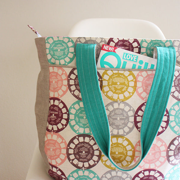 Super Tote Sewing Pattern | Noodlehead - Stitch 56  - 4