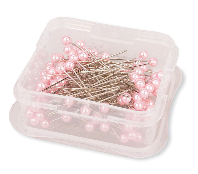 Pink Long Pearlized Pins - Stitch 56