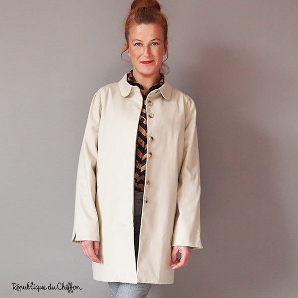 Roger Trench Coat Paper Sewing Pattern | République du Chiffon