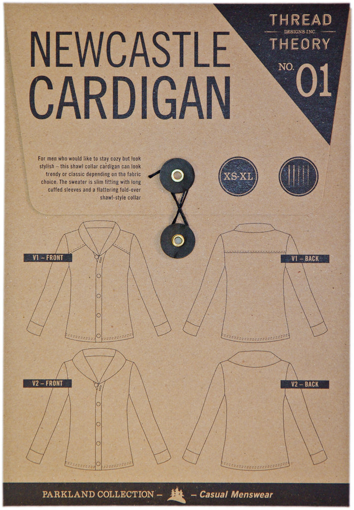 Newcastle Cardigan Paper Sewing Pattern | Thread Theory - Stitch 56  - 3