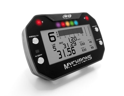 AIM Mychron 5 2T Kart Gauge with GPS, Two Temps